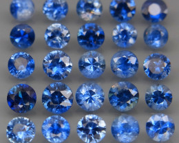 3.50 Ct/ 25Pcs/2.8-3.5 mm. Natural Earth Mined Cornflower Blue Sapphire