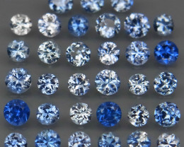 2.96 Ct/ 33 Pcs/2.5-3.0 mm. Natural Earth Mined Cornflower Blue Sapphire