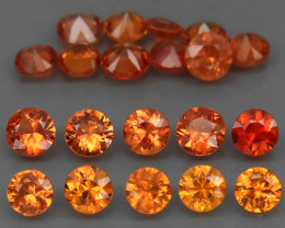 6.14 Ct/ 20 Pcs / 4.0mm. Natural Earth Mined  Gold Yellow Sapphire Songea