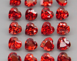 11.19  ct. Natural Hot Red Rhodolite Garnet Africa - 20 Pcs