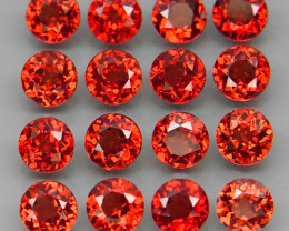 6.65 ct. Natural Earth Mined Red Rhodolite Garnet Africa - 16 Pcs