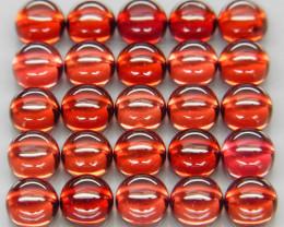10.88 ct. Natural Earth Mined Red Rhodolite Garnet Africa - 25 Pcs