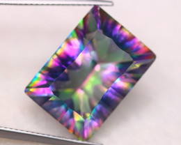 15.76ct Natural Mystic Peacock Topaz Octagon Cut Lot GW8317