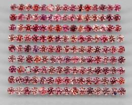4.44 Ct 1.7mm 150 pc Round Diamond Cut 100% Natural Top Padparadscha Sapphi