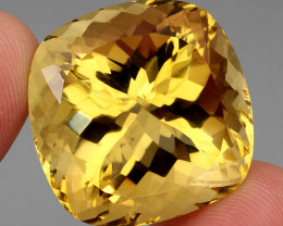 91.28 ct. 100% Natural Unheated Top Quality Yellow Golden Citrine Brazil