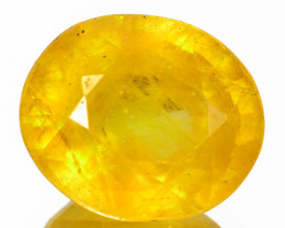 2.15 Cts Rare Fancy Yellow Sapphire Natural Gemstone