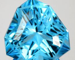 ~CUSTOM CUT~ 5.82 Cts Natural Swiss Blue Topaz Fancy Trillion Cut USA