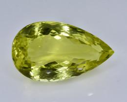 25.12 Crt Natural Lemon Quartz Faceted Gemstone.( AB 29)