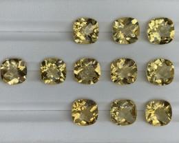 36.50 ct Citrine  Gemstones Parcel/ 11 pc