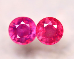 Ruby 5.40Ct 2Pcs Madagascar Pinkish Red Ruby E2407/A20