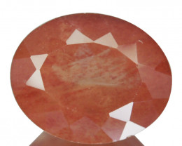 2.50 Cts Natural Greenish Red Sunstone Andesine Oval Cut Congo