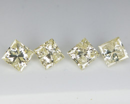 0.71 cts , 4 pc Princess Diamond , Pair Diamond for Jewelry