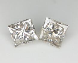 0.94 CTS , Pair of Diamond , Diamonds For Studs . Light Color Diamond