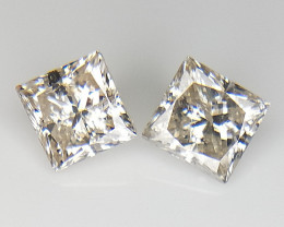 2/0.92 cts , Princess Brilliant Cut , Loose Diamonds