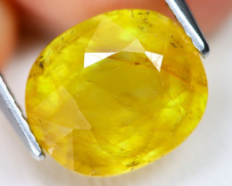 Yellow Sapphire 4.38Ct Oval Cut Yellow Color Sapphire C2209
