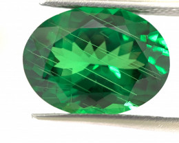 Natural Tsavorite with Rare Rutile 5.92 cts (SKU Z187)