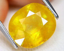 Yellow Sapphire 4.60Ct Oval Cut Yellow Color Sapphire B2204