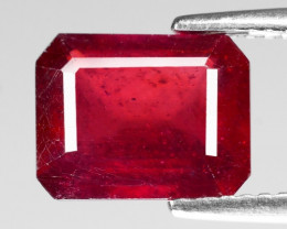 3.76 Cts Pinkish Red Natural Ruby BURMA  Loose Gemstone