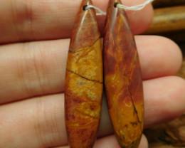 Natural gemstone red creek jasper earring (G2249)