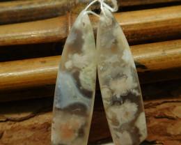 Sakura agate earring bead (G2254)