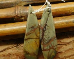 Red creek jasper earring pairs (G2256)