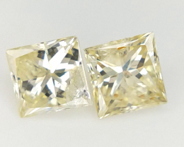0.33 ct , Diamond Pair , Yellow Diamond Pair
