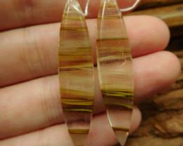 Quartz earring pair pendant (G2265)
