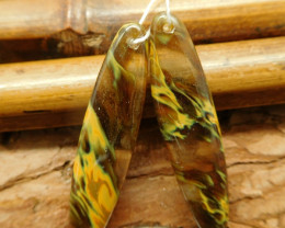 Natural gemstone yellow quartz earring bead (G2269)