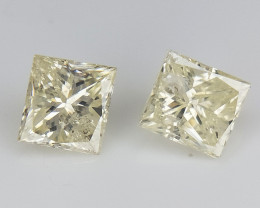0.33 cts , Natural Yellow Diamonds , Diamond Pair