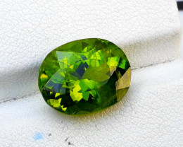 Peridot,  8.35 Ct Top Quality Oval Shape Peridot Gemstone