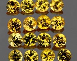 1.80 mm Round 30 pcs 0.97ct Yellow Sapphire [VVS]