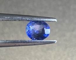 0.4ct unheated blue sapphire