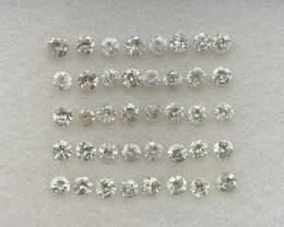 1.70 ct Diamond Gemstones Parcel / 40 pc / 0.04 pointer