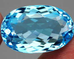 23.23 ct. 100% Natural Earth Mined Top Quality Blue Topaz Brazil
