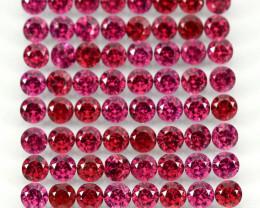 9.95 Ct 82p 2.7mm Round Cut 100% Natural Neon Purple Rhodolite Garnet Malaw