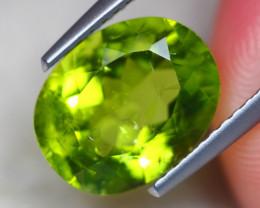 3.70ct Natural Green Peridot Oval Cut Lot GW7839