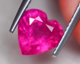 2.88ct Mozambique Ruby Heart Cut Lot GW7857