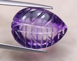 9.85ct Natural Purple Amethyst Fancy Cut Lot D450