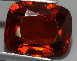 8.95 Cts Natural Reddish Orange Hessonite Garnet Cushion Cut Beautiful~$650