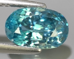 3.90 CTS WONDERFULL OVAL CUT BLUE ZIRCON~EXCELLENT!!