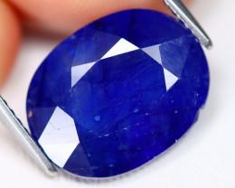 Blue Sapphire 9.59Ct Oval Cut Royal Blue Color Sapphire B2408