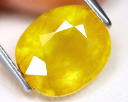 Yellow Sapphire 5.11Ct Oval Cut Yellow Color Sapphire B2410