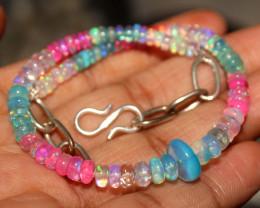 26 Crts Natural Ethiopian Welo Multi Color Opal Bracelet 136