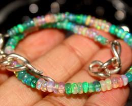 26 Crts Natural Ethiopian Welo Multi Color Opal Bracelet 127