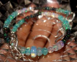 25 Crts Natural Ethiopian Welo Multi Color Opal Bracelet 124