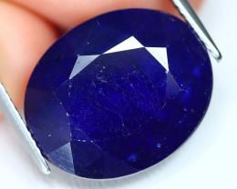 Blue Sapphire 21.18Ct Oval Cut Royal Blue Color Sapphire C2402
