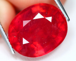 Red Ruby 16.29Ct Oval Cut Pigeon Blood Red Ruby C2410