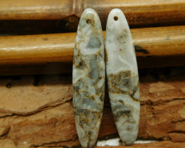 Crazy lace agate earring bead (G2280)