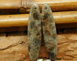 Oval cut earring bead (G2286)