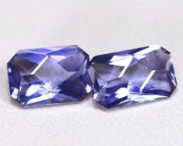 Tanzanite 1.56Ct VVS Master Cut Natural Purplish Blue Tanzanite Pair BT0045